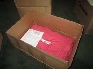 Box of shirts