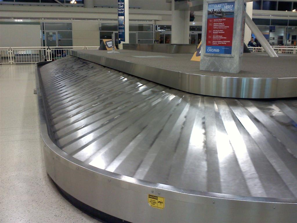 Empty baggage claim carousel