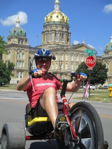 Matt Armbruster gives his High Roller a spin outside the the Iowa state Capitol in Des Moines. (Photo: High Roller)
